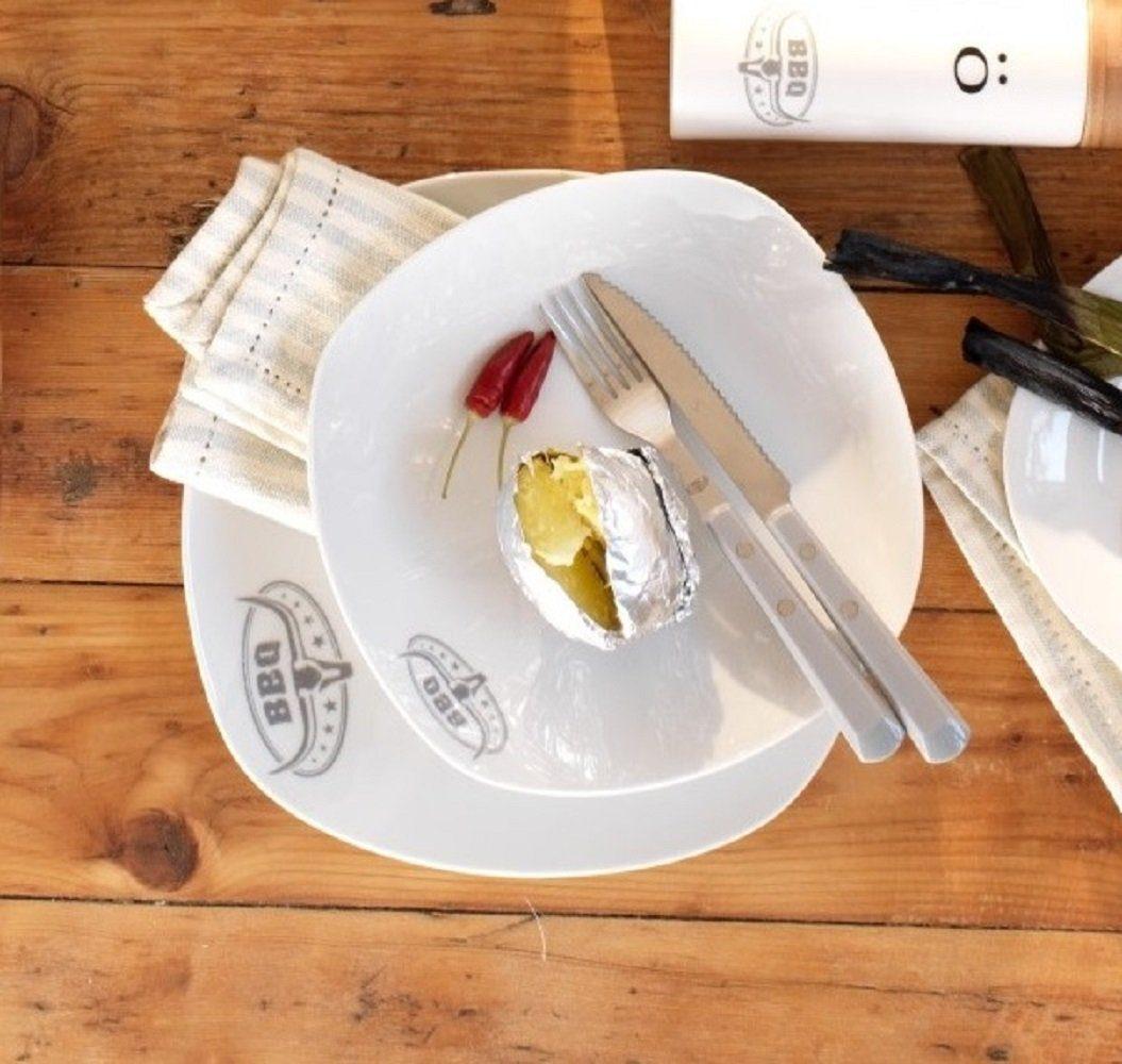 Mäser Set: Tafelservice, Porzellan »BBQ ELEGANT« 12-teilig