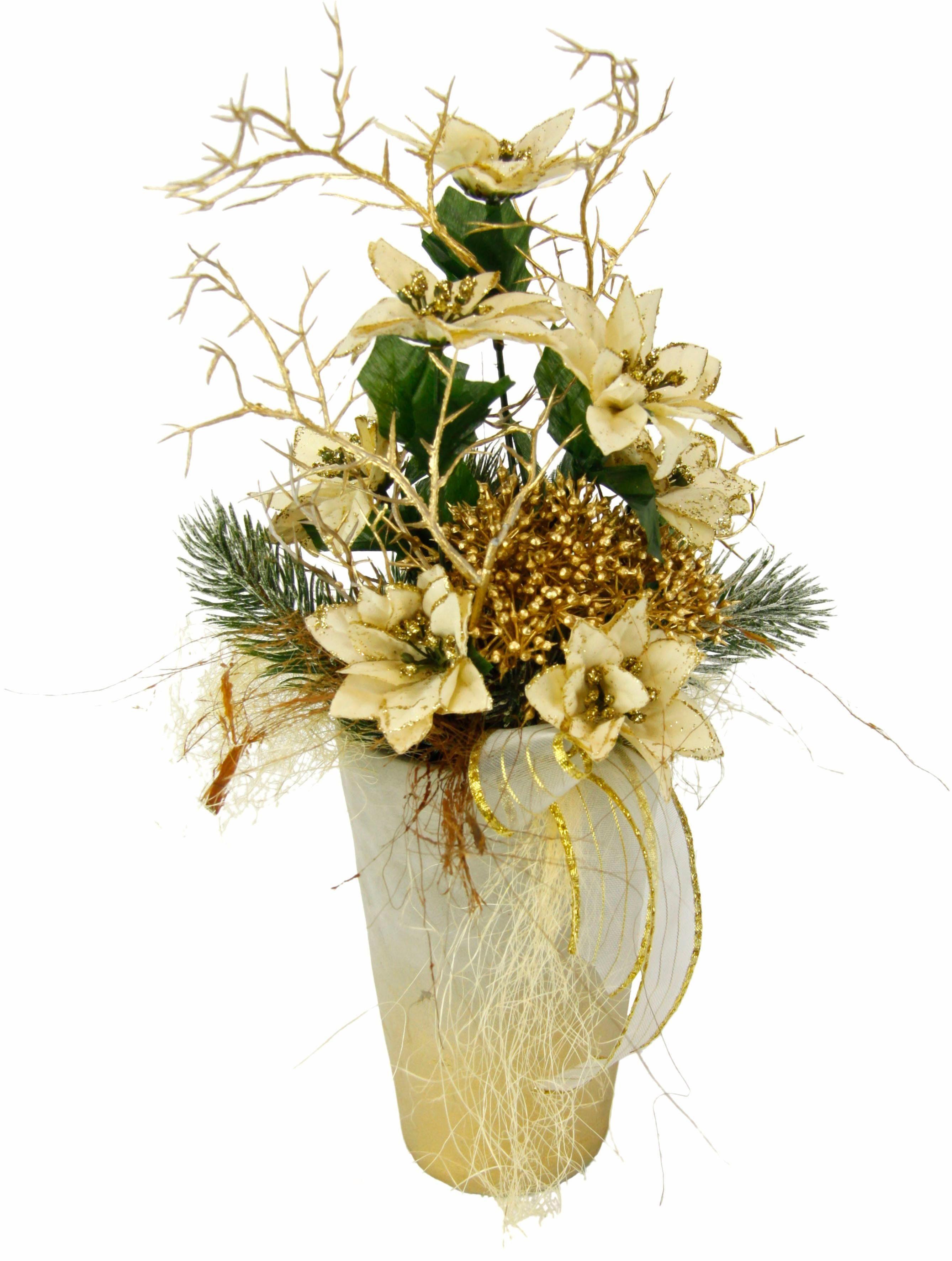 Gesteck Poinsettia i.Vase 42cm