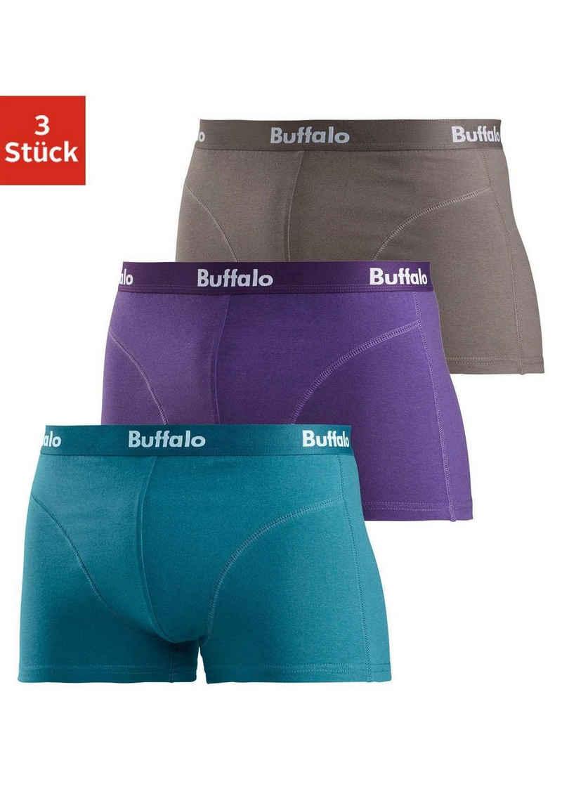 Buffalo Boxer (3 Stück) mit Overlock-Nähten vorn