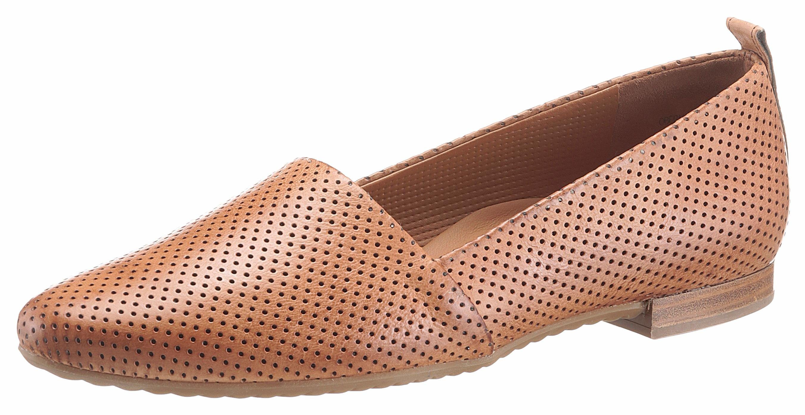 Paul Green Slipper, mit feiner Perforation kaufen  cognac