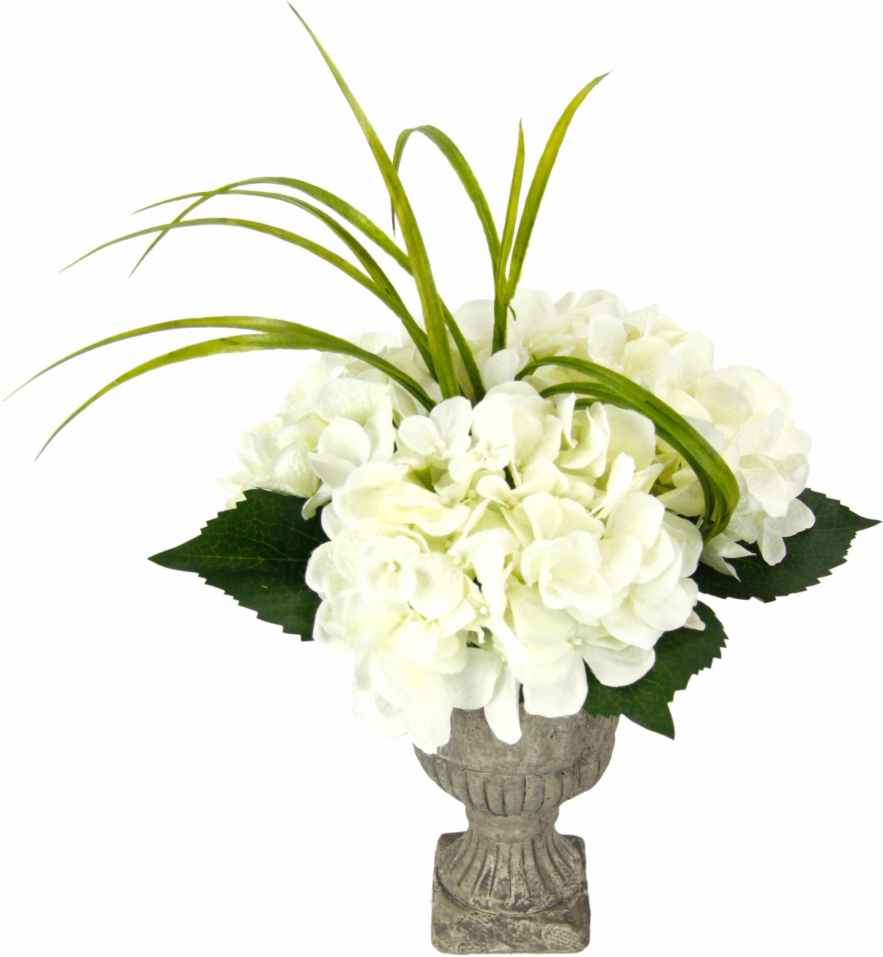 Kunstpflanze Hortensie in Pokal 30cm