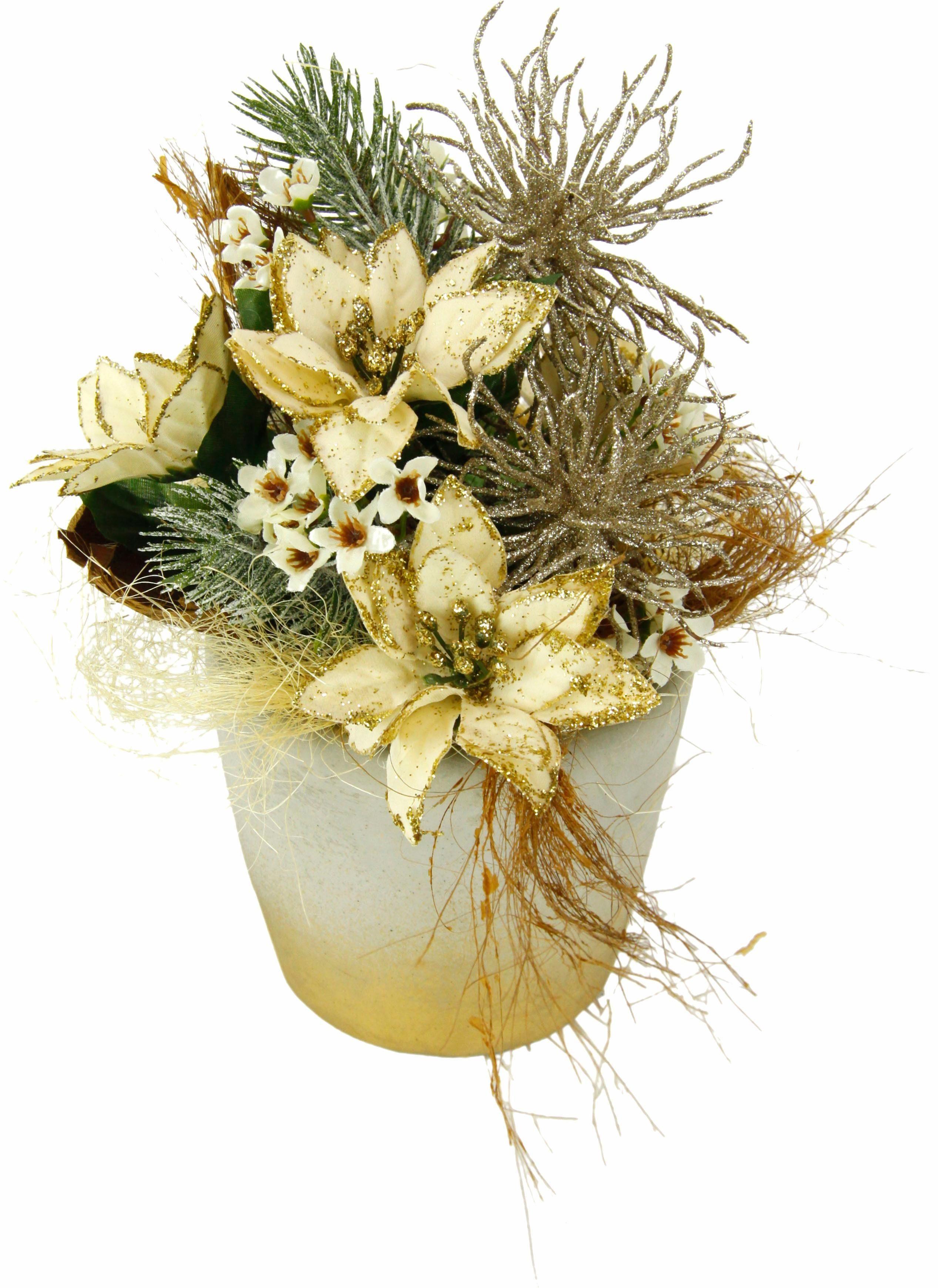 Gesteck Poinsettia i.T. 23cm