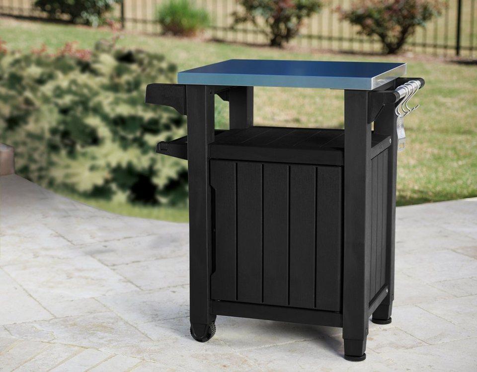 keter outdoor k chenschrank polypropylen edelstahl 1. Black Bedroom Furniture Sets. Home Design Ideas