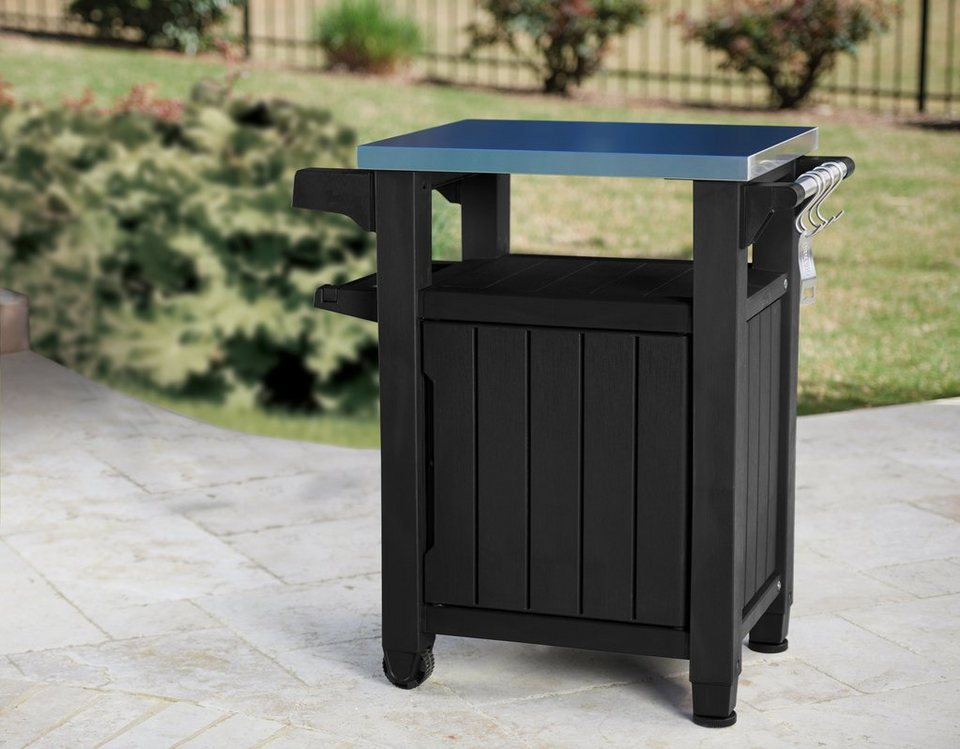 Outdoor Küchenschränke : Keter outdoor küchenschrank polypropylen edelstahl 1 türig