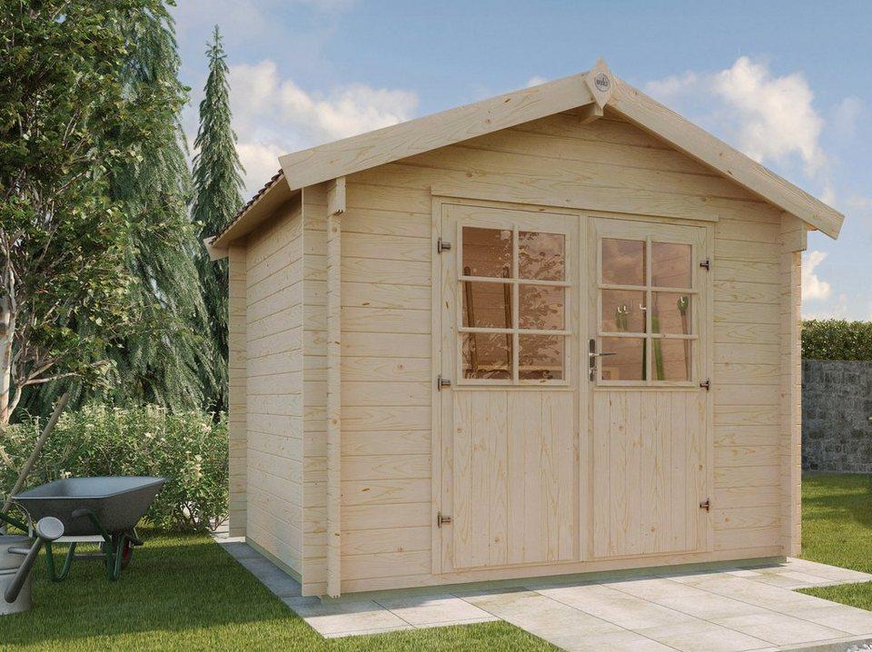 weka gartenhaus gr 2 bxt 250x250 cm inkl fu boden online kaufen otto. Black Bedroom Furniture Sets. Home Design Ideas