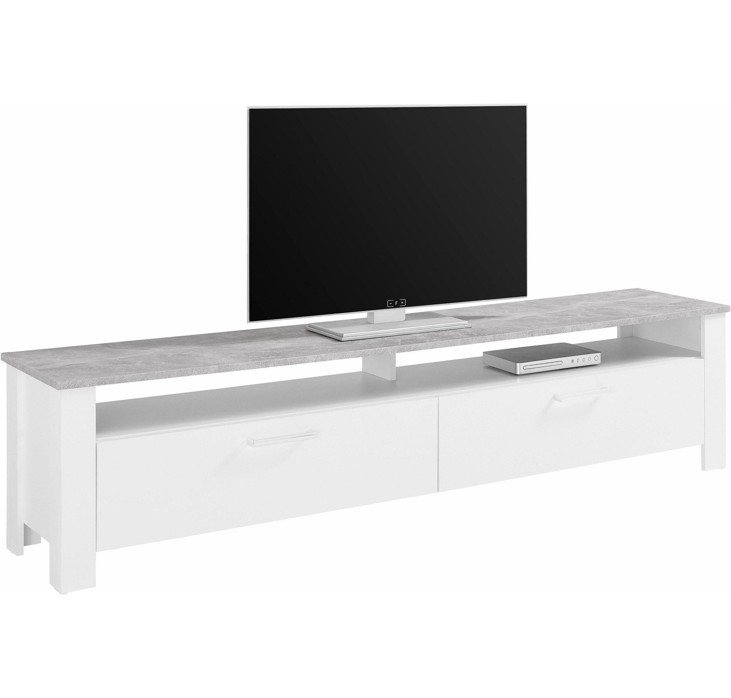 STEINHOFF ZABONA Lowboard - Weiß / Beton-Optik