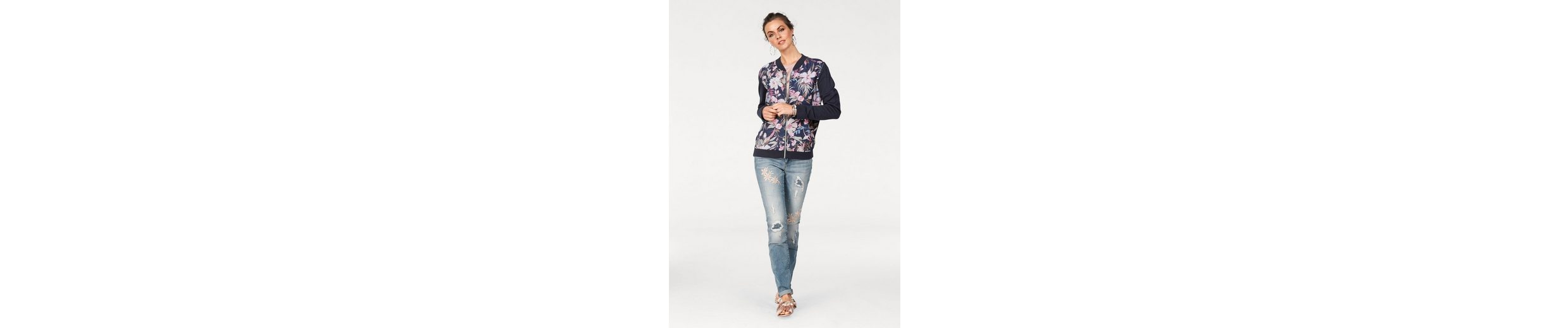 Laura Scott Blousonjacke, mit Satinfront