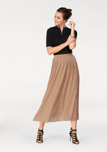 Laura Scott Pleated Skirt With Shiny Threads