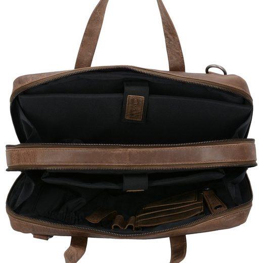 Plevier Simplicity Businesstasche Leder 37 cm Laptopfach