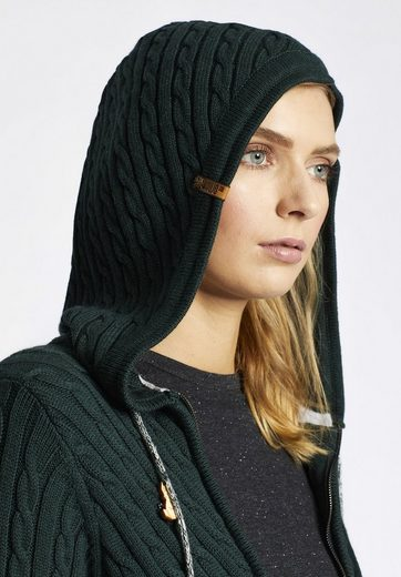 Khujo Hooded Sweater Kiera, With Cable Knit