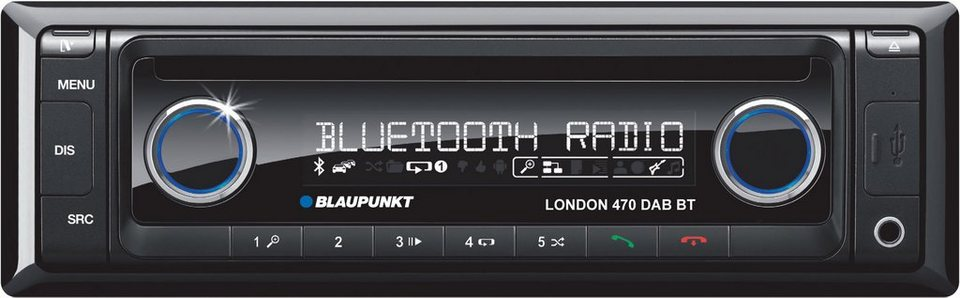 blaupunkt 1 din autoradio mit cd player bluetooth usb. Black Bedroom Furniture Sets. Home Design Ideas