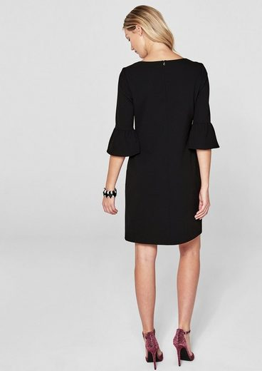 s.Oliver BLACK LABEL Crêpe-Kleid mit Volants