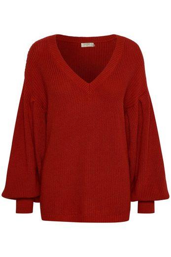 Cream V-neck-sweater Annabell