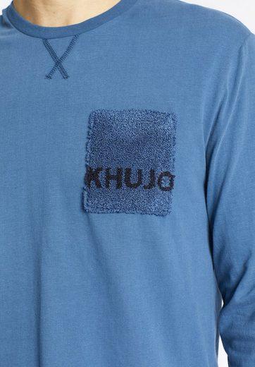 khujo Langarmshirt TOMMEN, mit Brusttasche