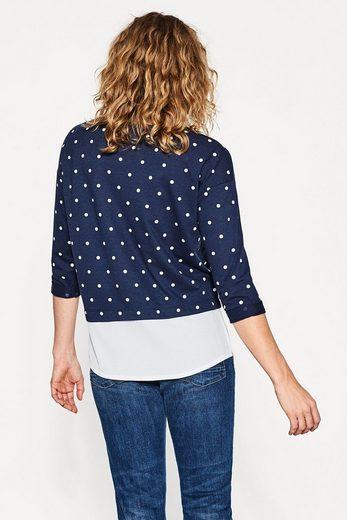 ESPRIT Lässiges Shirt aus leichtem Material-Mix
