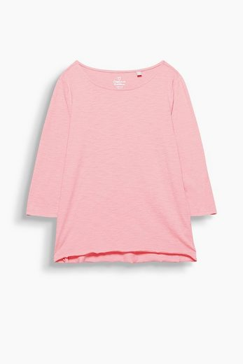 ESPRIT Softes Slub-Shirt mit Organic Cotton