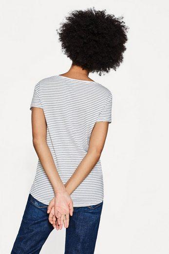 ESPRIT Softes Print-Shirt aus 100% Baumwolle