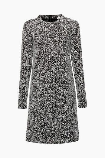 ESPRIT Jacquard-Kleid aus dichtem Jersey-Stretch