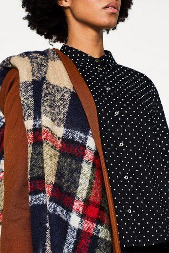 ESPRIT Boxy-Bluse mit Print, Baumwoll-Stretch-Mix