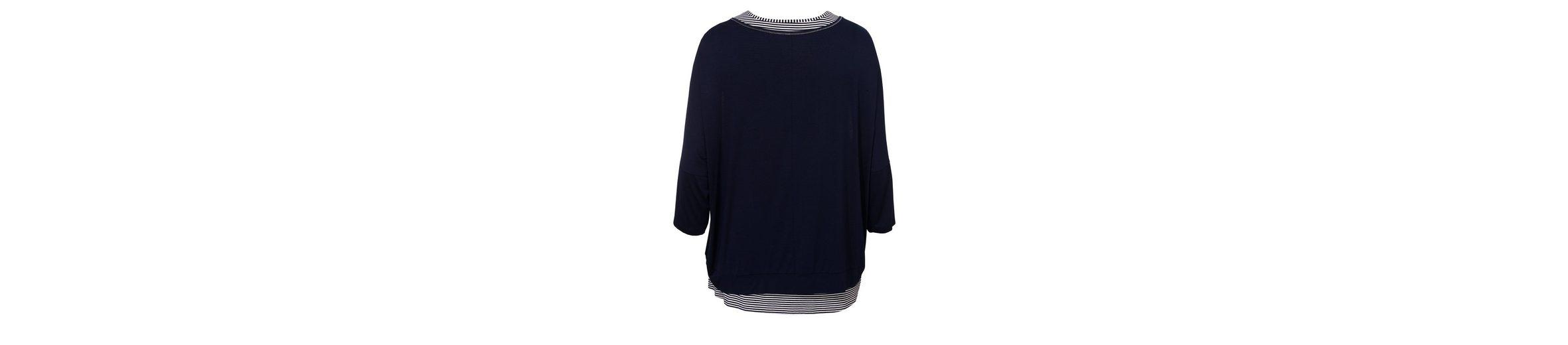 VIA APPIA DUE Raffiniertes 2-in-1 Shirt im Mustermix Niedriger Preis Zu Verkaufen WKIK3Q5