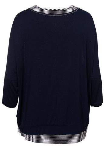 VIA APPIA DUE Raffiniertes 2-in-1 Shirt im Mustermix