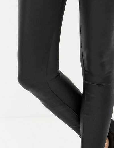 Taifun Hose Radler Leggings im Leder-Look