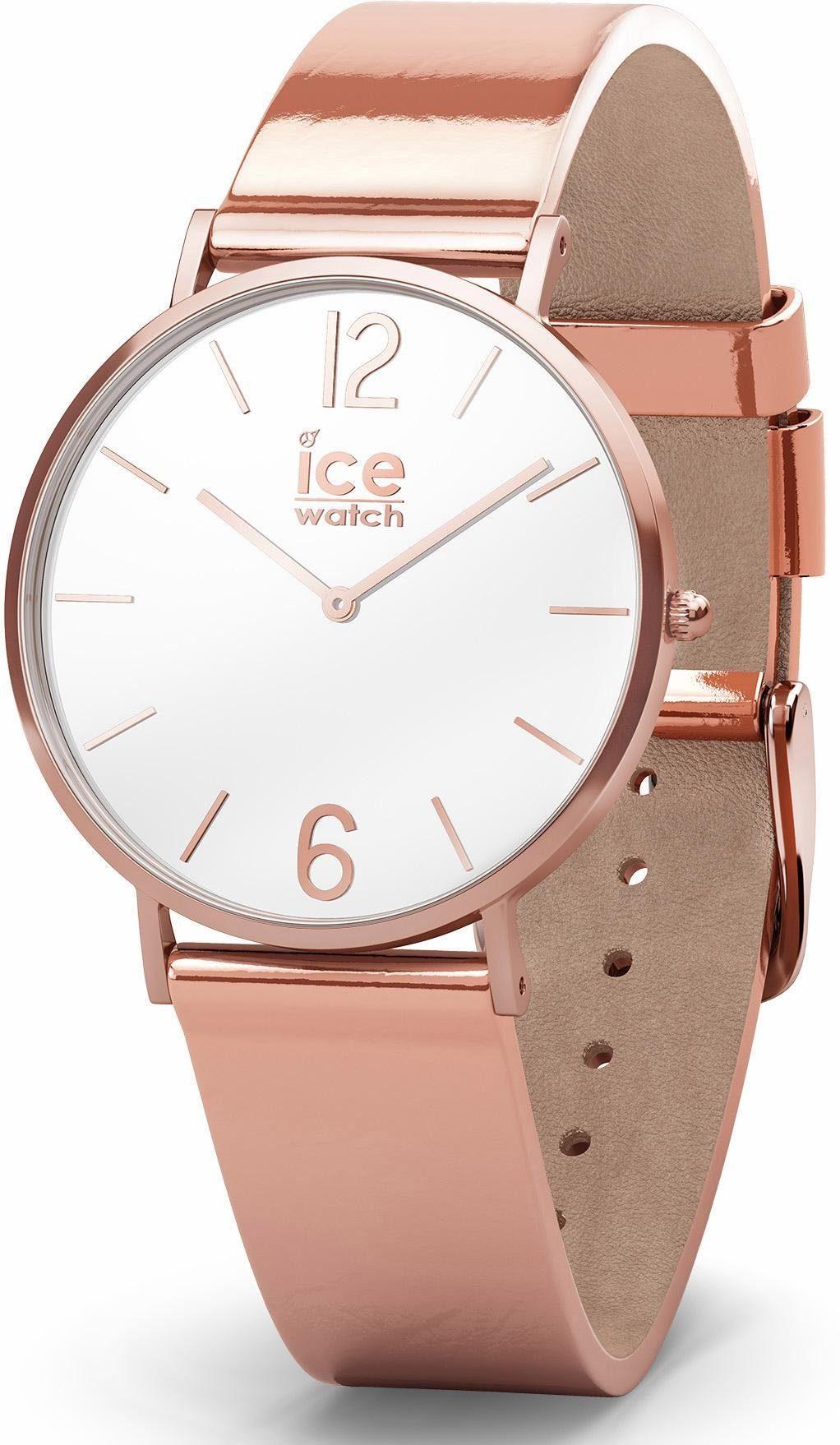 ice-watch Quarzuhr »CITY sparkling - Metal Rosegold - Small - 2H, 015091«