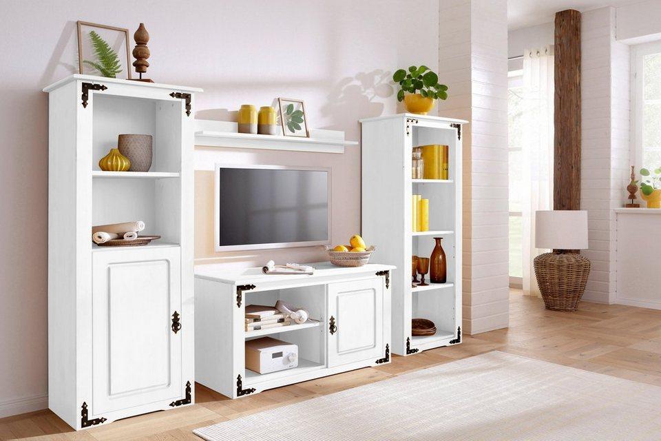 Home Affaire Wohnwand (3 Tlg.) »New Cheap« Mit Metallbeschlägen
