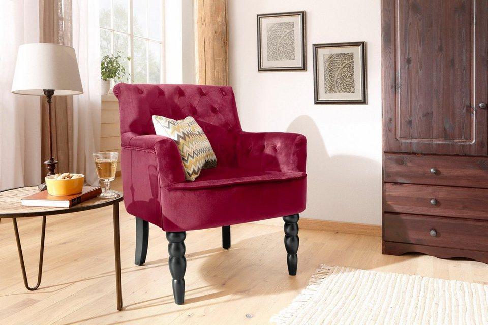 home affaire sessel alexia mit gedrechselten. Black Bedroom Furniture Sets. Home Design Ideas