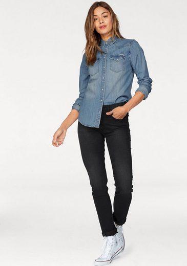 Chemisier Replay Jeans, Avec Des Boutons En Nacre