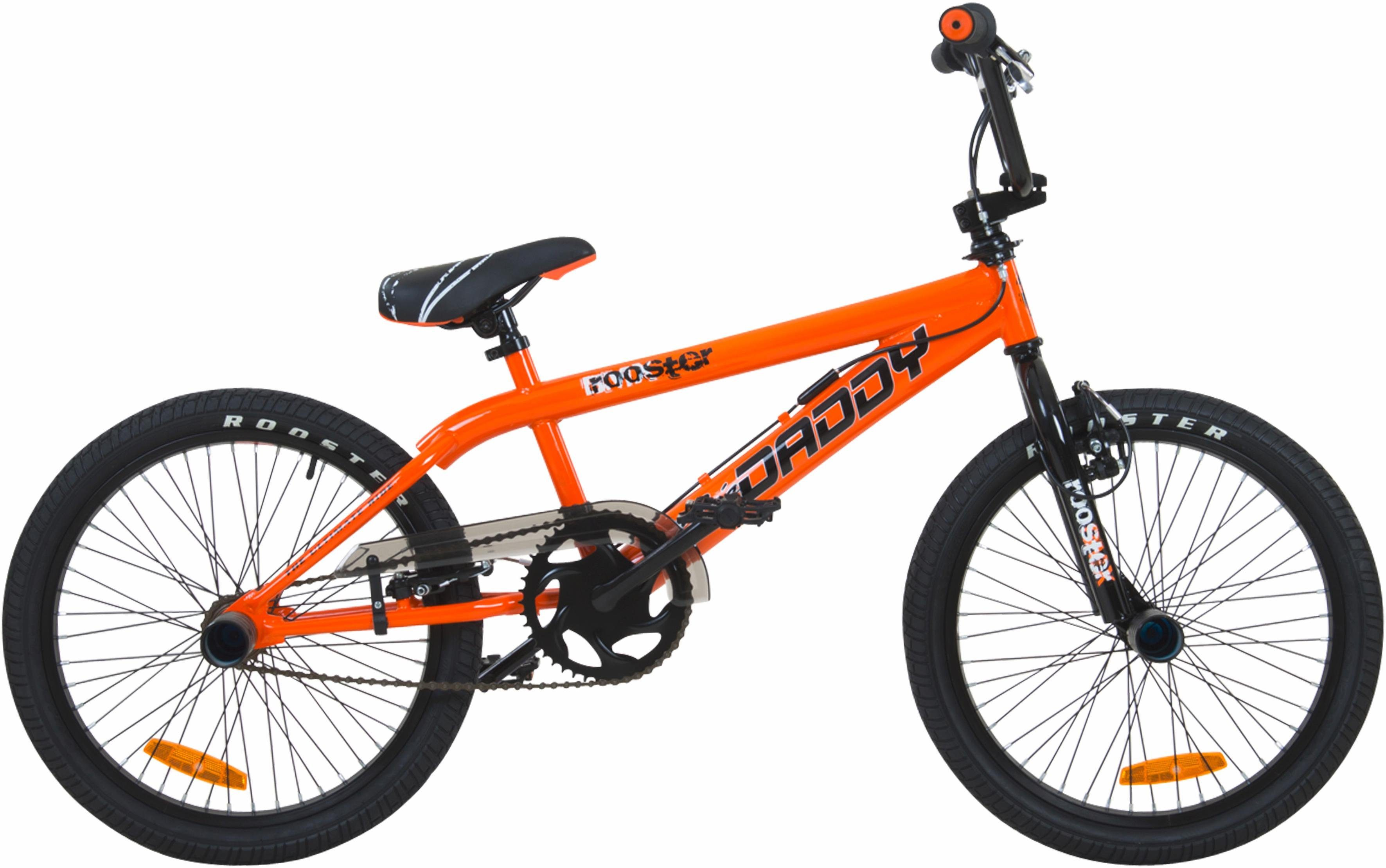 Rooster BMX, 20 Zoll, orange, V-Brakes, »Big Daddy Spoked«