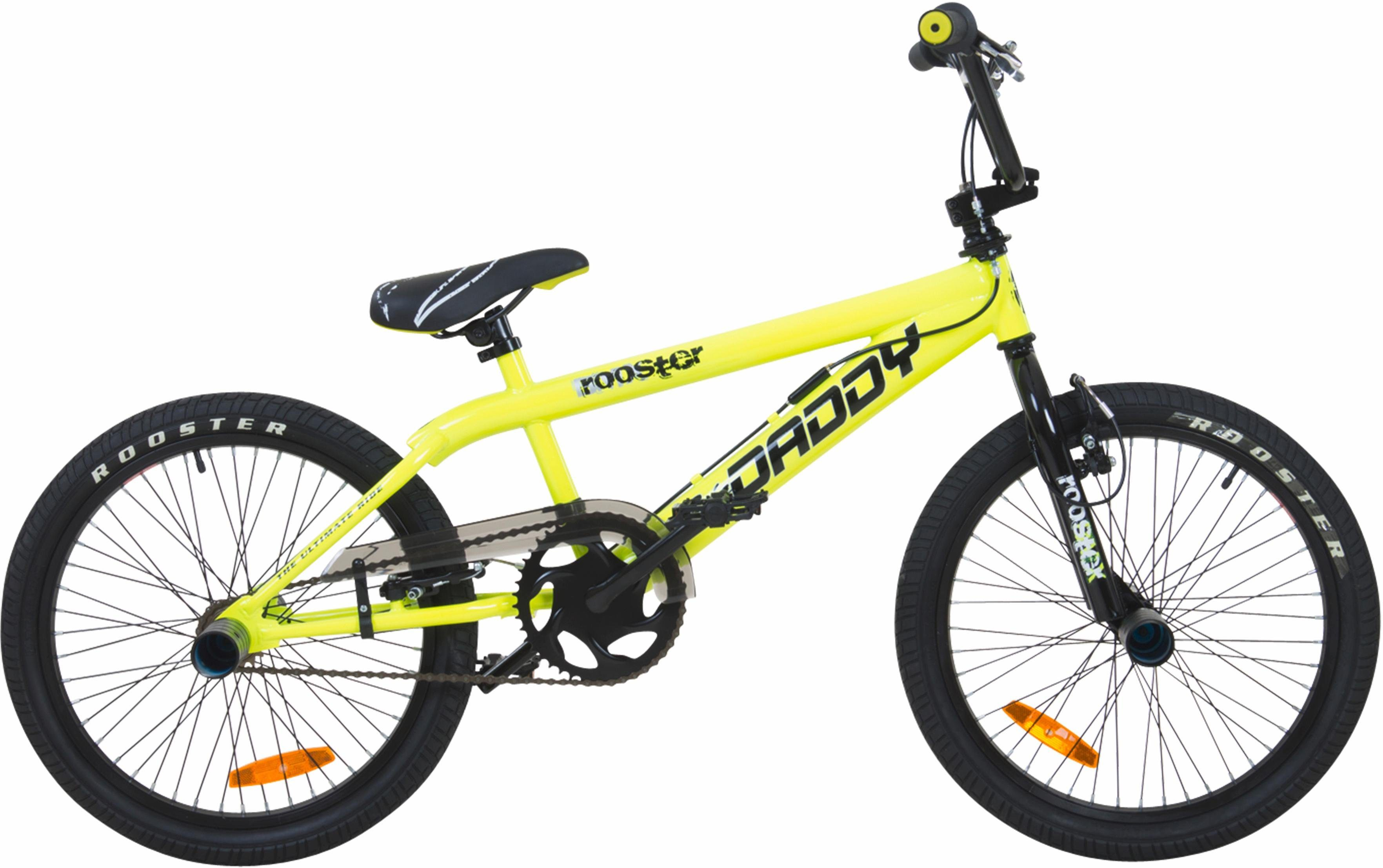 Rooster BMX, 20 Zoll, gelb, V-Brakes, »Big Daddy Spoked«