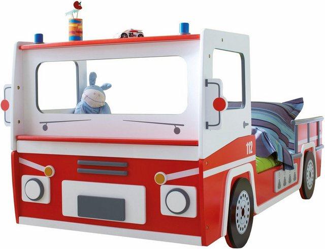 Kinderbetten - Demeyere Kinderbett »SOS112« im Feuerwehrdesign » rot  - Onlineshop OTTO