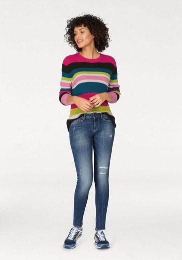 Pepe Jeans Rundhalspullover ANTIA, in bunten Streifen