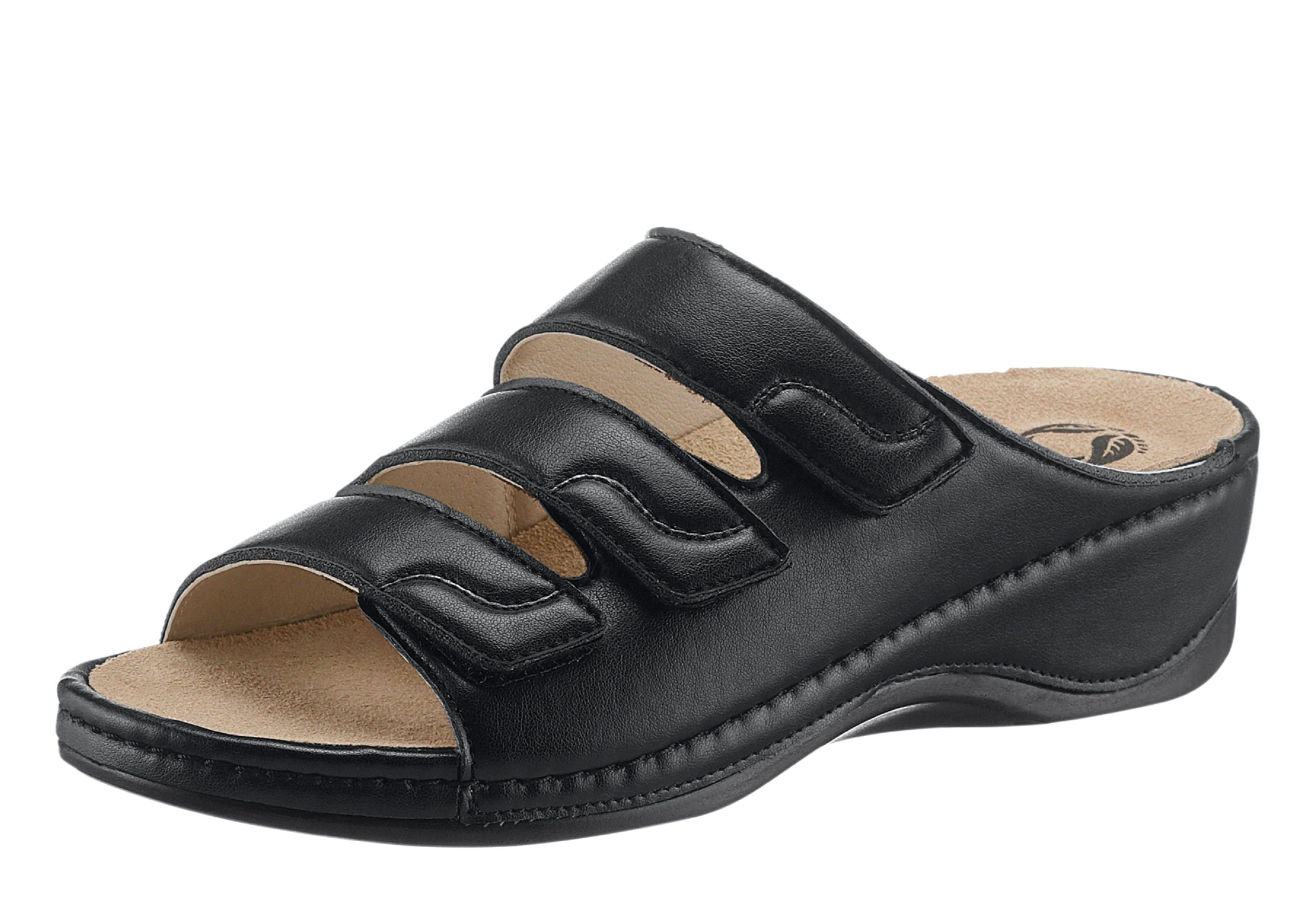 Pantolette mit weichem Wechselfußbett kaufen  schwarz
