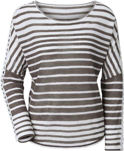 Création L Pullover im stimmigen Streifendessin