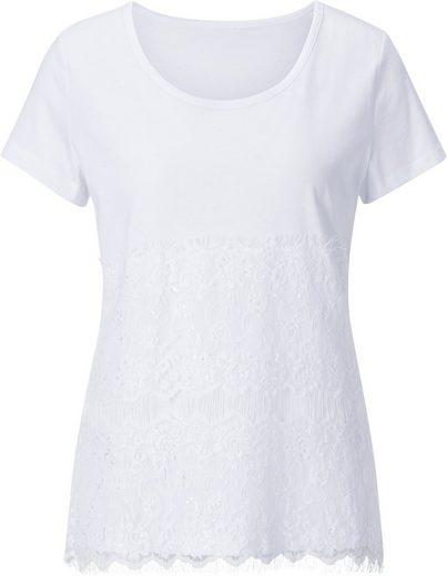 Création L Shirt mit filigraner Spitze