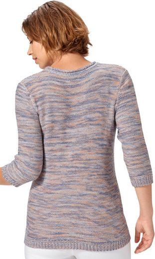 Classic Basics Pullover mit 3/4-Ärmeln