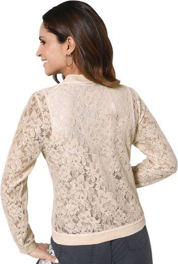 Alessa W. Leicht transparente Shirtjacke