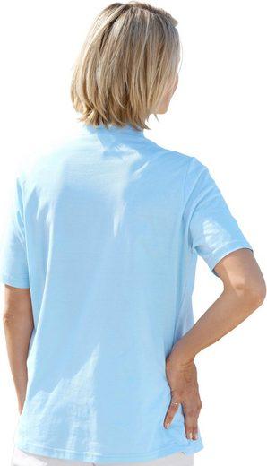 Collection L. Shirt mit bedrucktem Einsatz