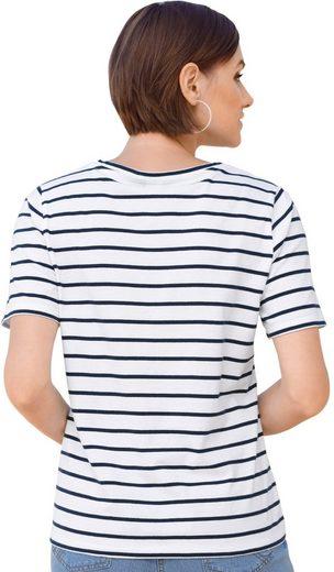 Classic Basics Shirt mit lässigem Streifenmuster