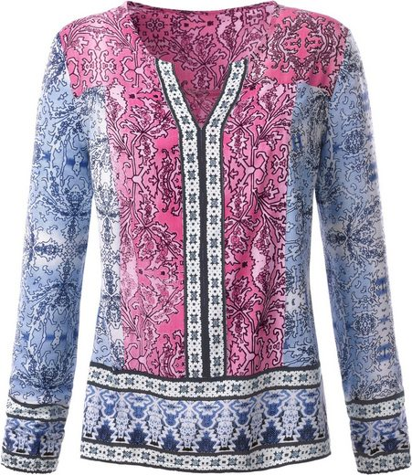 Classic Inspirationen Bluse in Patch-Optik