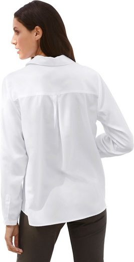 Classic Inspirationen Bluse mit modisch längerem Rückenteil
