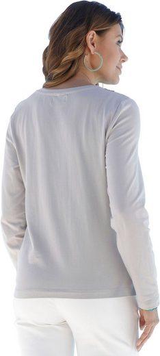 Ambria Shirtjacke mit Häkelspitze