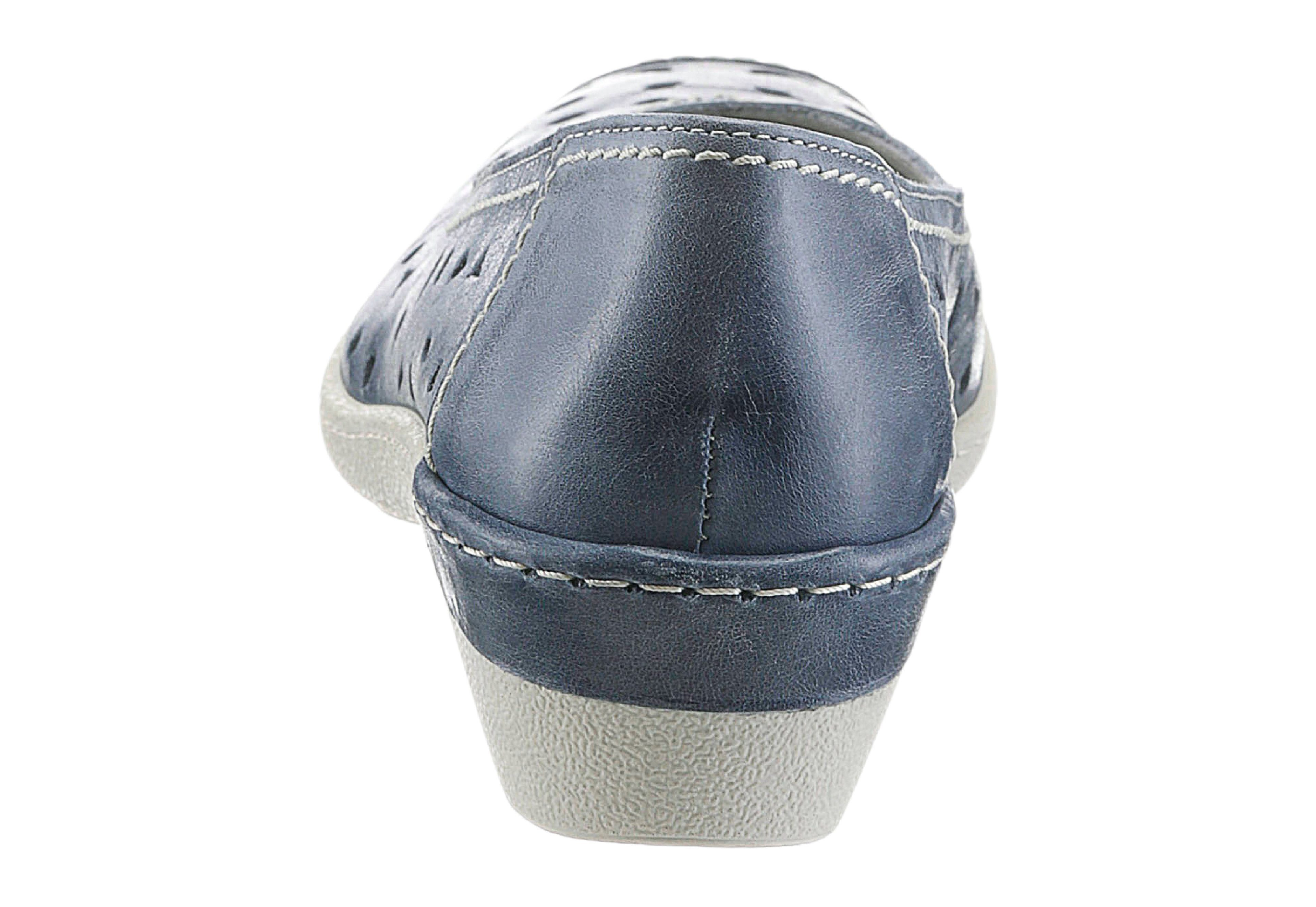 Airsoft Slipper mit textilem Wechselfußbett kaufen  jeansblau