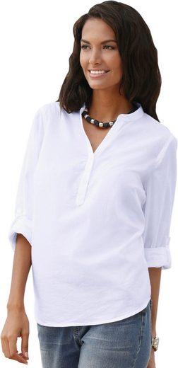 Casual Looks Bluse aus reiner Baumwolle