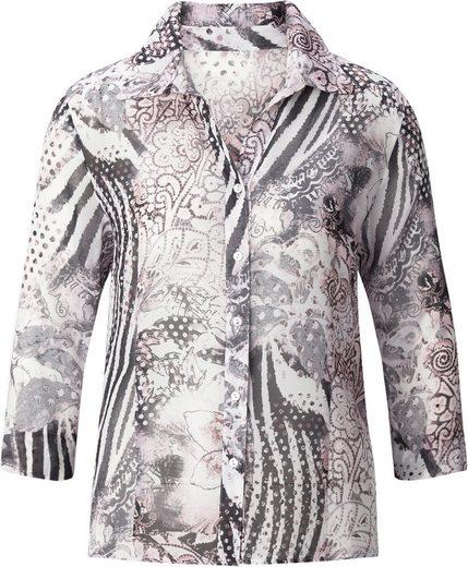Classic Basics Bluse mit offenem Hemdkragen