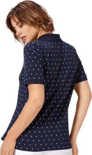 Classic Basics Poloshirt im Pünktchen-Dessin