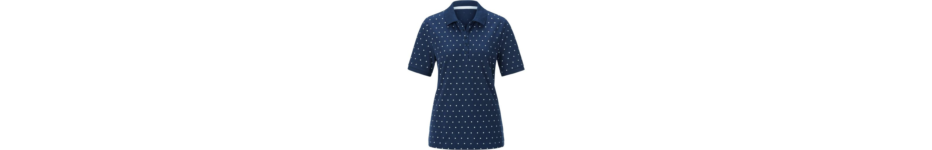 Classic Basics Poloshirt im Pünktchen-Dessin Rabatt Angebot Rabatt Sast Outlet Große Überraschung ZVS6cXbwF