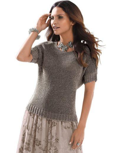 Alessa W. Leicht schimmernder Pullover